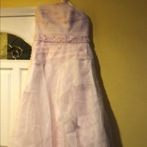 A dress that is pink no marks worn once